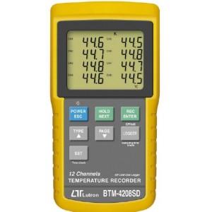 12-kanałowy rejestrator temperatury BTM-4208SD