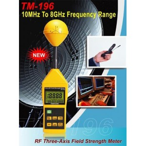 TM-196 Miernik 3-osiowy natężenia pola  elektromagnetycznego 10MHz do 8GHz